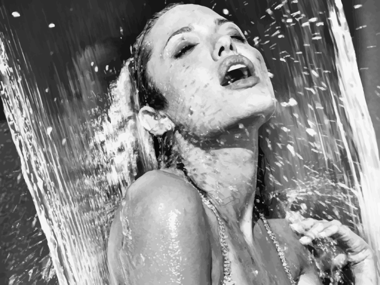 FreeVector-Angelina-Jolie-Shower
