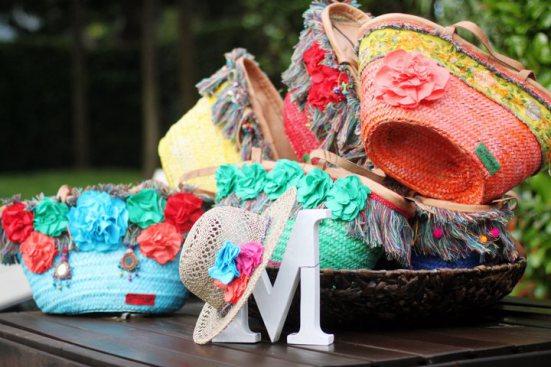 Bolsos de mimbre decorados the fashion site - Capazos de mimbre decorados ...
